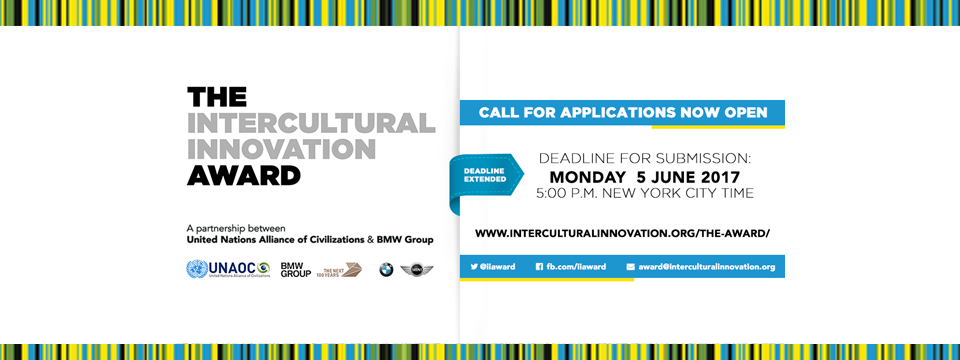 UNITED NATIONS ALLIANCE OF CIVILIZATIONS AND THE BMW GROUP LAUNCHES INTERCULTURAL INNOVATION AWARD CALL FOR APPLICATIONS